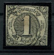 Thurn Und Taxis: 1 Kr. MiNr. 7 1852-1858 Gestempelt / Used / Oblitéré - Thurn And Taxis