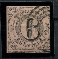 Thurn Und Taxis: 6 Kr. MiNr. 9 1852-1858 Gestempelt / Used / Oblitéré - Thurn And Taxis