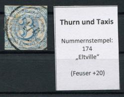 "Thurn Und Taxis: 3 Kr. MiNr. 21 Nummernstempel 174 ""Eltville"" Gestempelt / Used / Oblitéré - Thurn And Taxis"