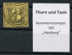 "Thurn Und Taxis: 3 Sgr. MiNr. 6 Nummernstempel 300 ""Hamburg"" Gestempelt / Used / Oblitéré - Thurn And Taxis"