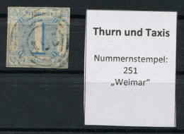 "Thurn Und Taxis: 1 Sgr. MiNr. 15 Nummernstempel 251 ""Weimar"" Gestempelt / Used / Oblitéré - Thurn And Taxis"