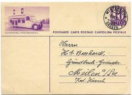 """12 - 13 - Entier Postal Avec Illustration """"Automobil-Postbureau"""" Cachet à Date Winterthur 1939 - Entiers Postaux"""