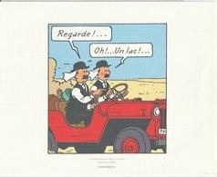 TINTIN - HERGE - MOULINSART 2011 - Planche 20 Strip 6 - Tire à Part Sur Papier Velin 240 X 193 - Serigraphien & Lithographien