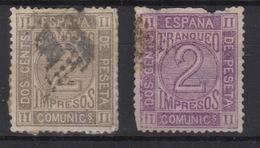 1872 Reinado Amadeo I Edifil 116(º) Dos Colores V.Catalogo 44€ - 1870-72 Reggenza