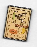 Pin's  Sport  Ténnis  ROLAND  GARROS  91  Avec  BOUYGUES  Verso  COINDEROUX  PARIS  CORNER - Tennis