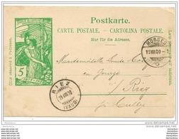 71 - 12 - Entier Postal UPU Avec Oblit De Morges Et Riez 1900 - Entiers Postaux