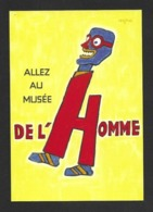 """CPM.    Cart'com.   Savignac.   Affiche """"Allez Au Musée De L'Homme"""".   Postcard. - Savignac"""