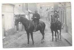 """80 AULT ( Somme )    Promenade à Cheval  Dans Les Rues De AULT-ONIVAL .   """" Carte Photo """" - France"""