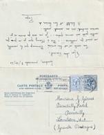 DDW 737 - Entier Postal Lion Héraldique Avec Réponse - Aller ANTWERPEN 1960 Vers LONDRES , Retour Avec TP Anglais - Postcards [1934-51]