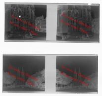 Saint Lô Années 30 ? Manche / Négatifs Photos Stéréo Sur 2 Plaques De Verre 4X10,5 Cm Env - Saint Lo