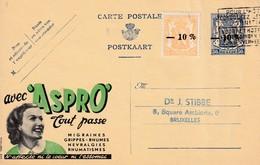 DDW 739 -- Entier Postal PUBLIBEL Moins 10 % + TP Petit Sceau Moins 10 % BRUXELLES 1946 En Ville - Stamped Stationery