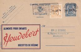 DDW 740 -- Entier Postal PUBLIBEL Moins 10 % + TP Petit Sceau Moins 10 % BRUXELLES 1946 En Ville - Stamped Stationery