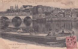 D49  ANGERS  Pont De La Basse Chaîne  ............ Carte Peu Courante Avec Péniche - Angers