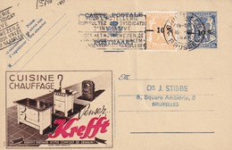 DDW 742 -- Entier Postal PUBLIBEL Moins 10 % + TP Petit Sceau Moins 10 % BRUXELLES 1946 En Ville - Stamped Stationery