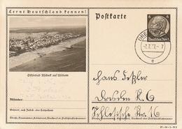"""Deutsches Reich / 1937 / Bildpostkarte """"OSTSEEBAD AHLBECK"""" Steg-Stempel Dresden Vom 77.37-7 (AN77) - Ganzsachen"""