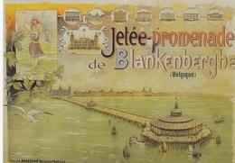 BLANKENBERGE / POSTKAART MET OUDE AFFICHE - Blankenberge