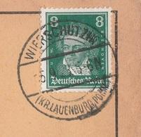 Deutsches Reich Karte Mit Tagesstempel Wierschutzin 1928 Kr Lauenburg Pommern RB Köslin - Deutschland