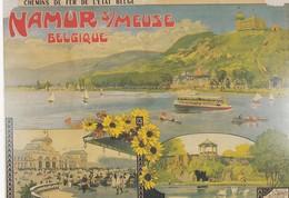 NAMUR / VIEILLE AFFICHE SUR CARTE POSTALE - Namur
