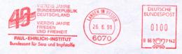 Freistempel 9513 40 Jahre Bundesrepublik Paul Ehrlich Institut - [7] Repubblica Federale