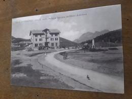 Cartolina Postale, Postcard 1925, Colle Sestrières, Partenza Corriera Dall'Hotel Sestrières - Other Cities