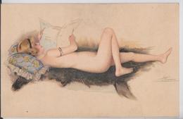 Suzanne Meunier Artiste Peintre Illustratrice Pin-up En Costume D'Eve Série 26 Femme Erotisme Journal Presse - Meunier, S.