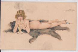 Suzanne Meunier Artiste Peintre Illustratrice Pin-up En Costume D'Eve Série 26 Femme Erotisme Cocktail Peau D'ours - Meunier, S.