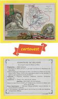 ♦♦☺ Chromo - CARTE DU TERRITOIRE DE BELFORT  ֎  - Carte Géographique - - Non Classificati