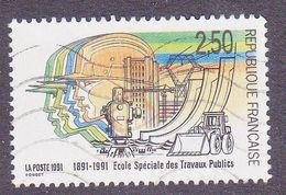 2726 France 1991 Oblitéré  Centenaire De L'Ecole Supérieure Des Travaux Publics - France