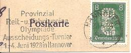1928 Tournoi De Qualification Olympique De Hippisme :Hannovre (Allemagne) Fragment - Summer 1928: Amsterdam