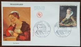 FDC 1972 - YT N°1702 - FRAGONARD / L'ETUDE - PARIS - FDC
