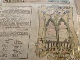 Trois Jours à Venise - Plan & Vademecum Indispensable Aux Etrangers + Carte Venetië - Pubblicitari