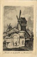 Gravure Moulin De La Galette à Montmartre RV - Arrondissement: 18