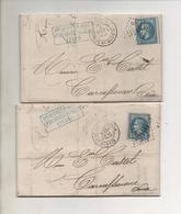 """LILLE Cachet 2046 """"D"""" Posté Par """"Crédit Indusriel Et De Dépot Du Nord"""" En 1869 - 1849-1876: Période Classique"""