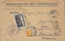 Luxembourg  -  Lettre  -  Recommandé  -  1932 - Administration Des Construbitions - 2 Scans - Entiers Postaux