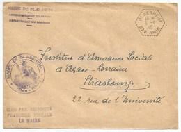 H415 - BAS RHIN - BLAESHEIM - 1945 - HEXAGONE Pointillé - Entête Mairie - - Alsace-Lorraine