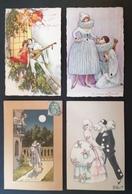 4 Cpa. Illustrateurs. Pierrot. - Illustrators & Photographers