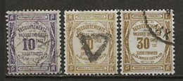 FRANCE:, Obl., TAXE N° YT 44, 45 Et 46, TB - 1859-1955 Used