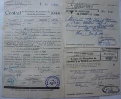 HERMALLE SOUS ARGENTEAU Visé Formulaires Pommes De Terre Aardappelen 1942-44 Occupation Réquisitions - Ohne Zuordnung