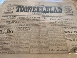Tooneelblad Van GENT - 2 October 1908 !! - Programmi