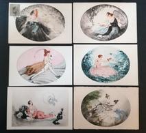 11 Cpa. Illustrateurs. Papier Style Parchemin.Gravure. - 1900-1949