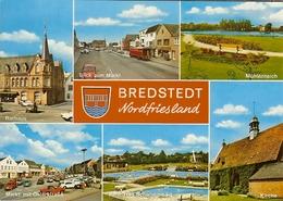 """CP De BREDSTEDT """" Rathaus , Blick Zum Markt , Mühlenteich , Kirche , Markt Mit Osterstrabe , ..."""" - Bredstedt"""