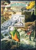 Bloc Sheet Oiseaux Perroquets Birds Parrots  Neuf  MNH **  Niger 2013 - Parrots