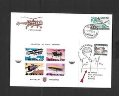 Vol Spécial Pour L'expo. Philatélique AIRPEX 67 à Farciennes Par Hélicoptère HUGHES 300 Du 09/12/1967 Signe Pilote - Airmail