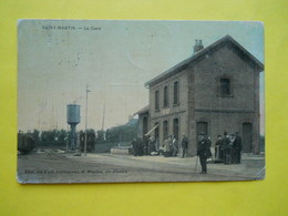 Saint-Martin Les Boulogne ,gare ,toilée Couleur - Autres Communes