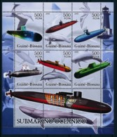 D - [400971]TB//**/Mnh-Guinée-Bissau 2006 - Sous-Marins, Phares, Poissons - Submarines