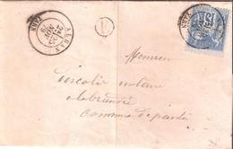 N°90 Sur Pli  Posté à Alban (Tarn) Le 26 Novembre 1879 - 1877-1920: Période Semi Moderne