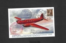 """Plis Parachutés à Gand Cartes Spéciales """"Journées D'aviation De Gand"""" Du 13/09/1946 - Airmail"""