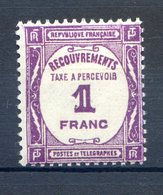 TIMBRE FRANCE...........TIMBRE TAXE   N°  59  CHARNIERE - Taxes