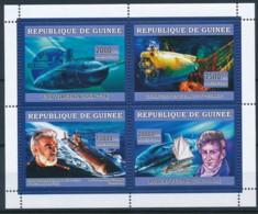 D - [401923]TB//**/Mnh-Guinée 2006 - Sous-Marins, USS Virginia, Le Nautile Et L'épave Du Titanic, Sean Connery, Robert F - Submarines