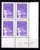 RC 16822 FRANCE N° 3099 COIN DATÉ MARIANNE DE LUQUET 21.08.97 NEUF ** TB MNH VF - 1990-1999